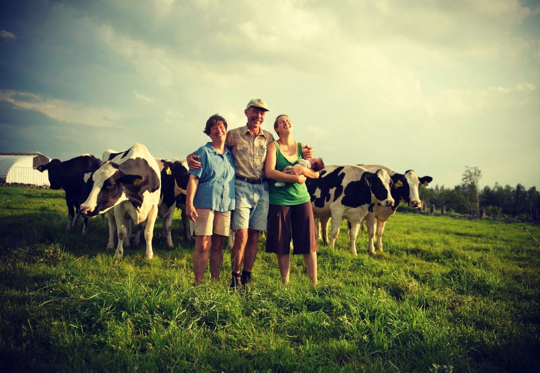 Família no campo